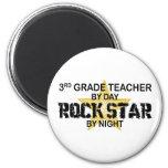 Rock Star by Night - 3rd Grade 2 Inch Round Magnet