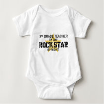 Rock Star by Night - 3rd Grade Baby Bodysuit