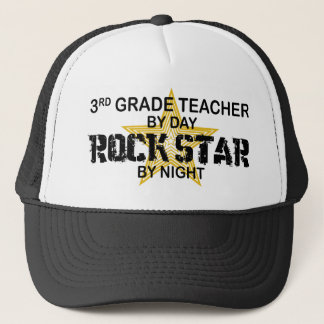 Rock Star by Night - 3rd Grade Trucker Hat