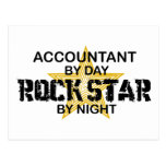 Rock Star by Night - Accountant Post Card