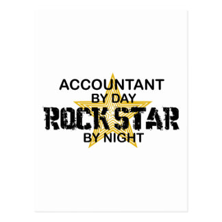 Rock Star by Night - Accountant Postcard