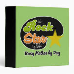 Rock Star By Night Busy Mother By Day Recipe Book Vinyl Binder