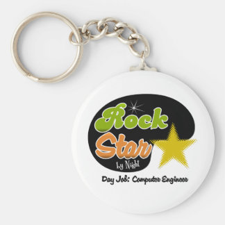 Rock Star By Night - Day Job Computer Engineer Keychains
