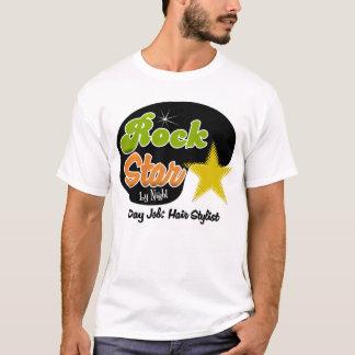 Rock Star By Night - Day Job Hair Stylist T-Shirt
