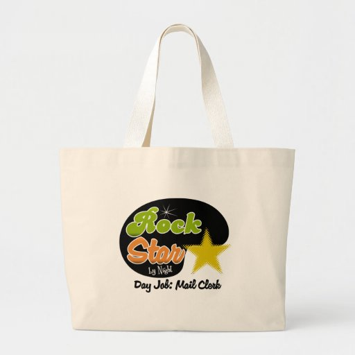 Rock Star By Night - Day Job Mail Clerk Canvas Bags