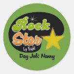 Rock Star By Night - Day Job Nanny Stickers