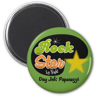 Rock Star By Night - Day Job Paparazzi 2 Inch Round Magnet
