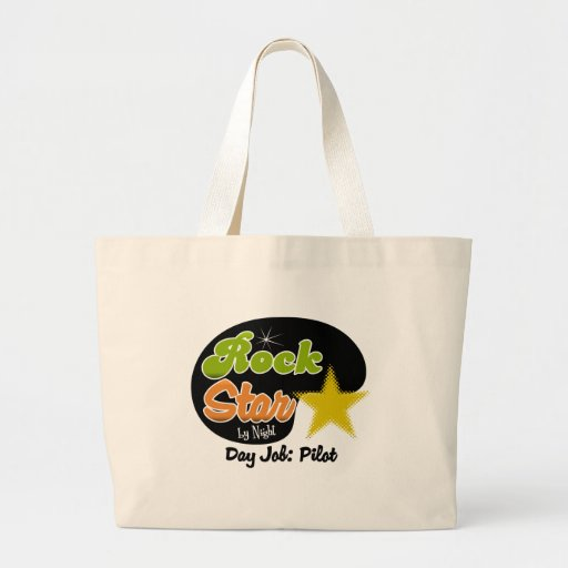Rock Star By Night - Day Job Pilot Canvas Bags
