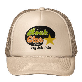 Rock Star By Night - Day Job Pilot Mesh Hat