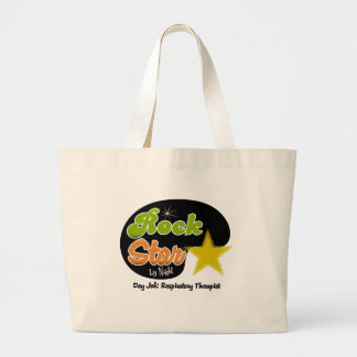 Rock Star By Night - Day Job Respiratory Therapist Canvas Bags