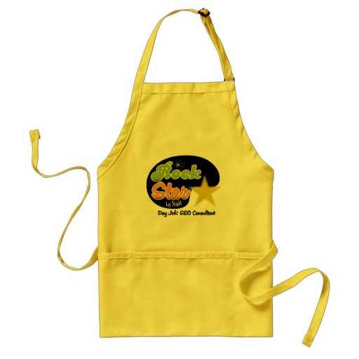 Rock Star By Night - Day Job SEO Consultant Adult Apron