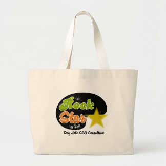 Rock Star By Night - Day Job SEO Consultant Canvas Bags