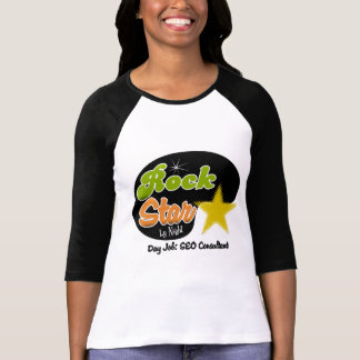 Rock Star By Night - Day Job SEO Consultant Tees