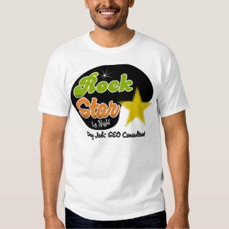 Rock Star By Night - Day Job SEO Consultant Tshirt