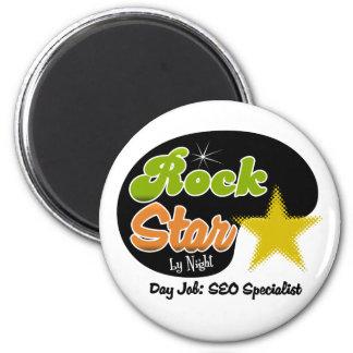 Rock Star By Night - Day Job SEO Specialist Refrigerator Magnet