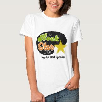 Rock Star By Night - Day Job SEO Specialist Tee Shirts