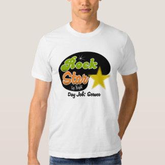 Rock Star By Night - Day Job Server T Shirts