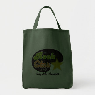 Rock Star By Night - Day Job Therapist Canvas Bags