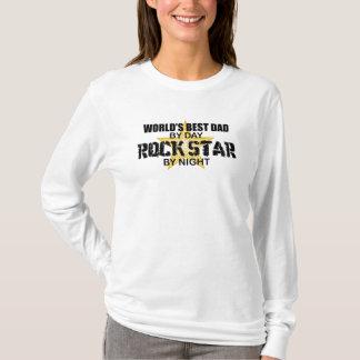 Rock Star by Night - World's Best Dad T-Shirt