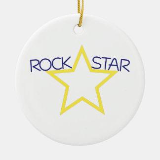 Rock Star Ceramic Ornament