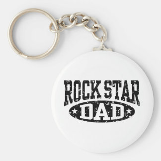 Rock Star Dad Keychain