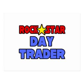 Rock Star Day Trader Postcard