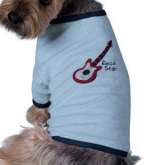 Rock Star Dog T Shirt