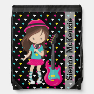 Rock Star Drawstring Backpack
