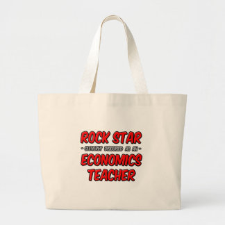 Rock Star...Economics Teacher Tote Bags