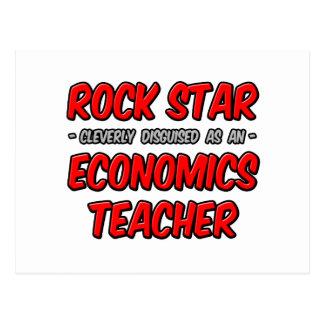 Rock Star...Economics Teacher Postcard