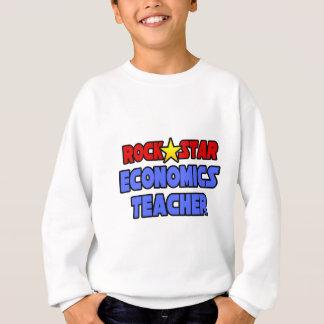 Rock Star Economics Teacher Sweatshirt