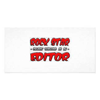 Rock Star...Editor Personalized Photo Card
