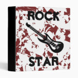 Rock Star Electric Guitar Back to School Binder