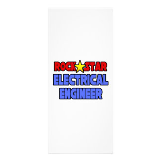 Rock Star Electrical Engineer Custom Rack Card