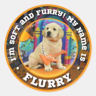 Rock Star Flurry Classic Round Sticker