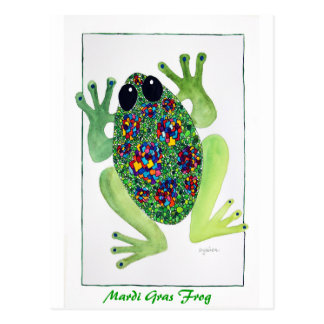 Rock Star Frog Post Cards