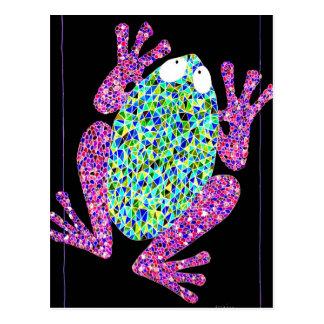 Rock Star Frog Postcard