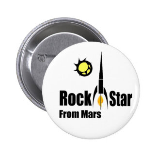 Rock Star from Mars with Spaceship Button