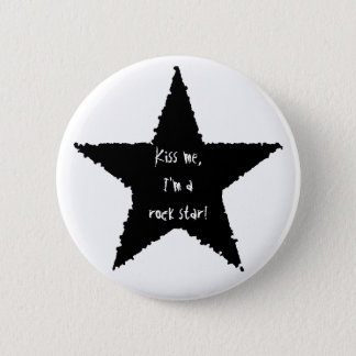 Rock star fun button