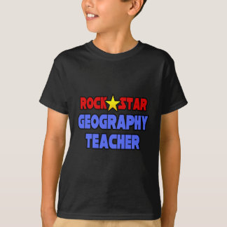 Rock Star Geography Teacher T-Shirt