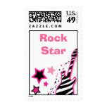 Rock Star Girl Personalized Postage Stamps