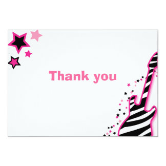 Rock Star Girl Pink Thank You Note Cards
