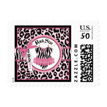 Rock Star Girl Tutu Cheetah Print Baby Shower Postage