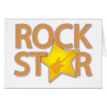 Rock Star Greeting Card