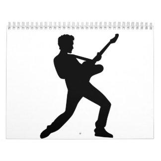 Rock star guitar wall calendar