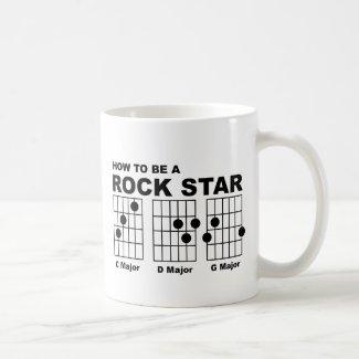 Rock Star Guitar Chord Funny Mug Humor