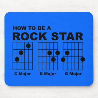 Rock Star Guitar Chords Funny Mousepad Humor