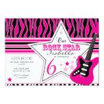 "Rock Star Guitar Invitation 5"" X 7"" Invitation Card"