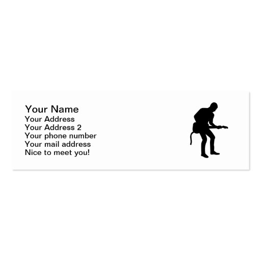 Rock star guitarist business card templates