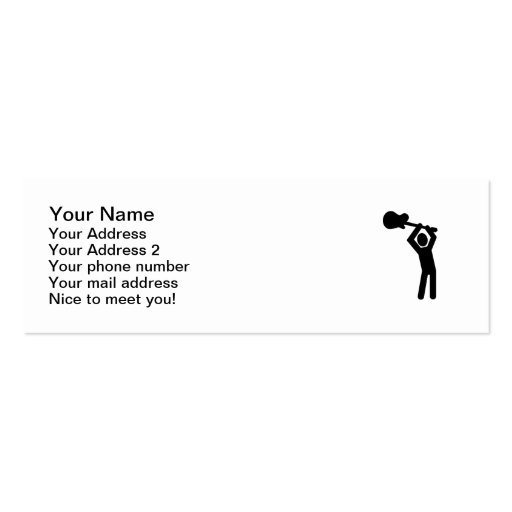 Rock star guitarist business card